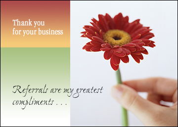 Relationship Marketing Thank you card