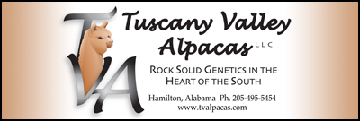 Eye-Catching Trade Show Banner Tuscany Valley Alpacas