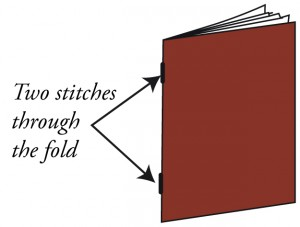 options for book binding : saddle stitched