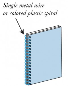 options for book binding : Spiral