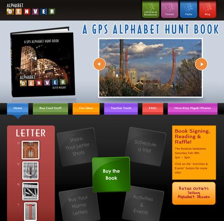 Designing a Children's book Alphabet Denver Website