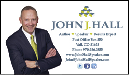 John J Hall Business Card Design Front