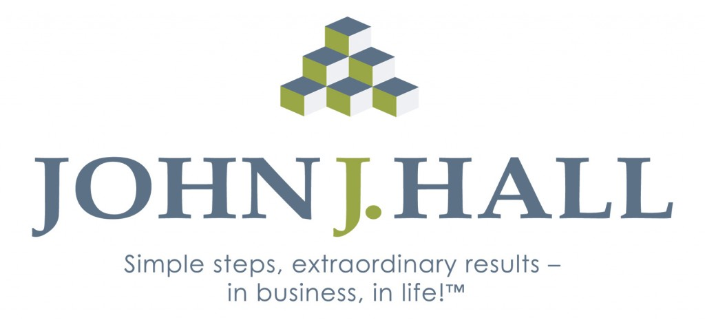 John J Hall logo design with tag line