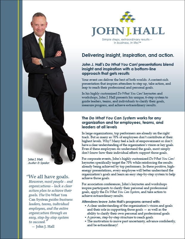 John J Hall Speaker one sheet front