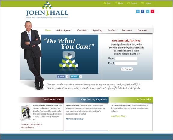 John J Hall website design