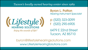 Lifestyle Hearing Solutions business card front