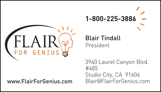Blair Tindall effective business cards design