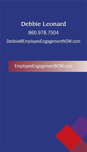 Debbie Leonard back business card design