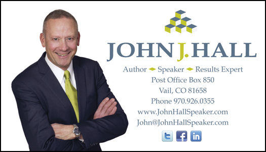 John Hall effective business cards design