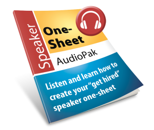 Speaker One-sheet AudioPak