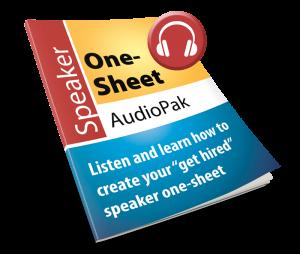 Speaker One-sheet AudioPak