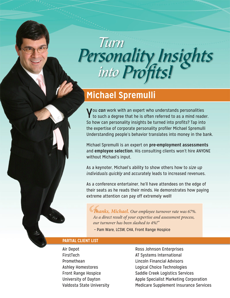 Professional speaker one-sheets position you as an expert - photo#3